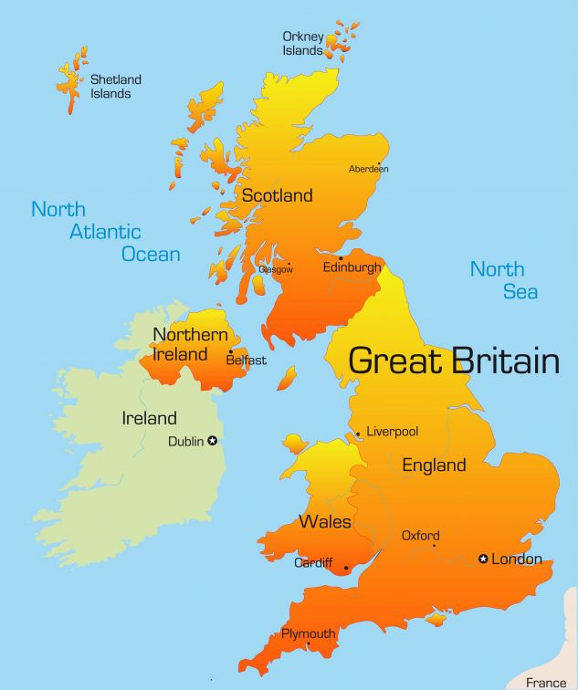 UK Map for holiday lodges